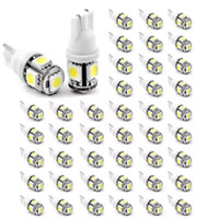 Wholesale Map Park - 5000PCS T10 LED W5W 5SMD 5050 194 car led light Wedge Lamp Bulbs Auto Tail light Side Parking Dome Door Map lights 12V car styling