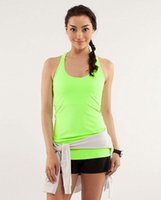 Wholesale Lulu Tanks - New Sexy Lady Sports Tops Lulu Running Gym Yoga Fitness Elastic Tanks Hot Sale Brand with Logo Tees USA Standard Size XXS-XL