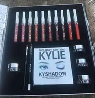 Wholesale Sets For Big Girls - Kylie Holiday Big Box Collection Kit Matte Kylie Jenner Liquid Lipgloss Collection Set for girl DHL retail package