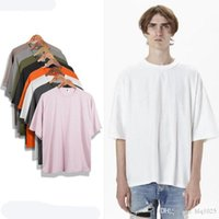 Wholesale Oversized Shirts Men - wholesale oversized t shirt homme Kanye WEST clothes Season style t-shirt hip hop tshirt streetwear mens t shirts