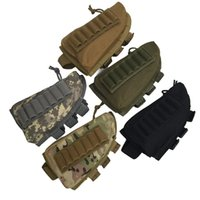 Wholesale plain magazine - 5 Colors Tactical Rifle Shotgun Buttstock Cheek Rest Rifle Stock Ammo Shell Nylon Magazine Molle Pouch Holder