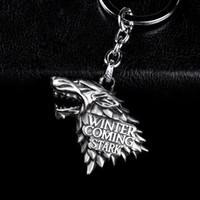 Wholesale Male Fashion Figures - Brand New Fashion Anime Game of Thrones Keychain For Men Trinket Portachiavi Car Keyring Key Chain Ring Chaveiro Male Jewelry Gift Souvenirs