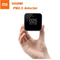 Wholesale Air Detectors - Wholesale- Original Xiaomi PM2.5 Detector Sensor Air Quality Monitoring High-precision Laser Sensor OLED Screen Using With Mi Air Purifier