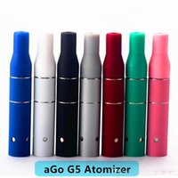 Wholesale Chamber Smoke Dry Herb - 2017 Smoke Dry Herb Chamber Cartridge Vaporizer Ago G5 Atomizer Clearomizer for Wind proof E-Cigarette Dry Herb Vaporizer G5 Pen DHL Free