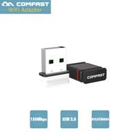 Wholesale Cf Pc Card Adapter - Wholesale- Realtek 8188eus Mini 150Mbps USB Wireless Network Card Comfast CF-WU810N-1 WiFi LAN Adapter 802.11n b g PC Wi fi Laptop Receiver