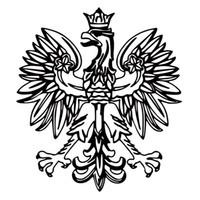 Wholesale eagles car stickers - Polish Eagle Vinyl Decal Poland Emblem Funny Car Styling Jdm Sticker Bird Symbol Car Truck Accessories Decor Art
