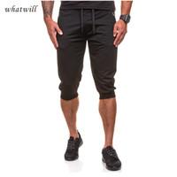 Wholesale Match Men Cargo Pants - Wholesale- Fashion Shorts Summer Short Pants Men Cargo Casual Men Bottoms Cool Sportwear Solid Color All Match Clothing