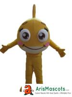 Wholesale fish furs - Yellow Fish mascot outfit custom Ocean Animal mascot costume fancy fur mascots kids carnival party dress