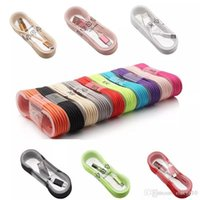 Wholesale Iphone C Aluminum - 2017 New Micro USB V8 Aluminum Metal Nylon Braided Woven Data Cables Charger Charging Cable Wire Cords