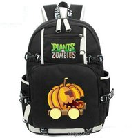 Women sports car games - Pumpkin backpack Plants vs Zombies daypack Cusquash car schoolbag Game rucksack Sport school bag Outdoor day pack