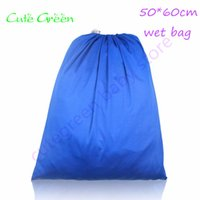 Wholesale diapers pail resale online - cm hot sports beach bags drawstring bag and reusable cloth diapers waterproof travel wet bag single pocket pail liner bags