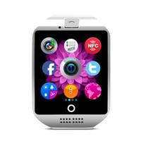tf часы цена оптовых-Q18 умные часы Оптовые цены Bluetooth SmartWatch с поддержкой камеры Tf слот для SIM-карты Bluetooth NFC-соединение