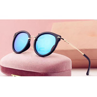 Wholesale Half Points - 2017 lady luxury brand designer vintage sunglasses women points sun with box sunglasses for women 4 colors