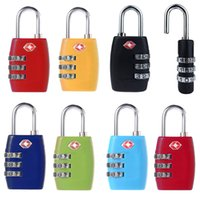 Wholesale Portable Travel Kit Alloy TSA Digit Code Luggage Bag Lock Safety for Outdoor Suitcase Locks Combination Resettable Padlock