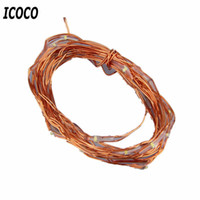 Wholesale Bbq Red - Wholesale- ICOCO 2M 20 LEDs Button Battery Operated LED Copper Wire String Fairy Lights for Christmas Party BBQ Wedding Holiday Decorations