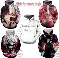 Wholesale Tokyo Ghoul Sweatshirt - New Fashion Couples Men Women Unisex Tokyo Ghoul 3D Print Hoodies Sweater Sweatshirt Jacket Pullover Top S-6XL TT52