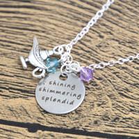 Wholesale aladdin silver for sale - Group buy 12pcs Aladdin Inspired Necklace Shining Shimmering Splendid Aladdin Princess Jasmine A Whole New World crystals