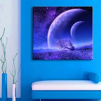 One Panel spray paint effects - Illuminated Wall Art Starry Sky LED Flash Effect Optical Prints Stretched LED Canvas Wall Art Decor