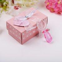 bebek duş için hediyeler toptan satış-Kutusu ile pembe Pembe Meme Anahtarlık Paketi Bebek Duş Iyilik Doğum Günü Partisi Hediye Için Konuk Hediye