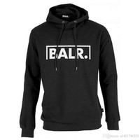 Wholesale Cool Hoodies Women - 2017 Fleece BALR Casual Unisex Hoodies Sweatshirt Cool Hip Pop Pullover Mens&women Sportwear Coat Jogger Tracksuit Fashion