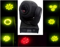 dj Mini Spot 30W conduziu luz de cabeça móvel com Placa PlateColor Gobos, High Brightness Stage DMX512 dj light ktv party club wedding