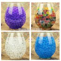 ingrosso palle di gelatina per il suolo-5000 pz 7 colori Magic Pearl vaso di riempimento A Forma di sfera di cristallo / mare Terreno Acqua Perline Fango Crescere Jelly Balls partito Decorazione di Cerimonia Nuziale