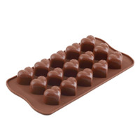 Vente en gros - 2017 New Arrival Ice Silicone Cube Fondant au chocolat Cake Jelly Tray Pan Loving Heart Maker Moule Mold Cuisine Baking Cake Tools