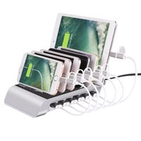 Wholesale Docking Tablet - 10.2A 6 Port USB Charging Station Universal Desktop Tablet & Smartphone Multi-Device Hub Charging Dock for iPhone, iPad, Galaxy, Tablets