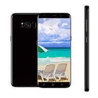 Wholesale Dual Core Smartphones Gps - 5.7inch Goophone S8+ plus Android 5.0 Smartphones 1G RAM 4G ROM show 128GB Dual sim Unlocked Cell Phones