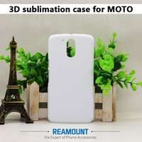 Atacado para MOTO G2 G3 G4 Sublimation Case 3D PC plástico rígido DIY Matte / Glossy Sublimation Blank Full Impresso Phone Case