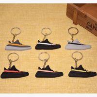 Wholesale Sneaker Mini - Cute Mini Silicone Key Chain Woman Kids Key Rings Gifts Sneaker Key Holder Shoes Keychain
