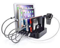 iphone смартфон оптовых-Multi позиция сотовый телефон зарядное устройство 6-портовый USB зарядное устройство станции семья смартфон таблетки держатель AC Dock зарядное устройство для Xiaomi iPhone iPad iWatch