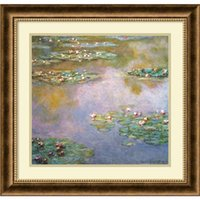 Wholesale Framed Art Ideas - Home decoration auction art replica craft wall designs ideas oil painting Water Lilies 1907 by Claude Monet