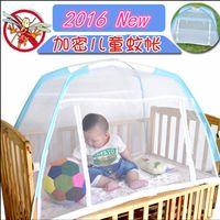 Wholesale Flooring Installations - Wholesale-Free Installation Floor Baby Crib Mosquito Nets Children Bed Nets Yurt Cover Children Child Portable Folding Anti-mosquito