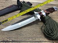 lâmina acrílica venda por atacado-O ENVIO GRATUITO de 12 '' Novo Lidar Com Acrílico 440C Lâmina Fixa Sobrevivência Bowie Faca de Caça SA27