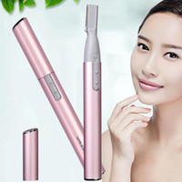 Wholesale Legs Shaver - Women's Electric Eyebrow Trimmer Lady Shaver Legs Eyebrow Shaper Trimmers Hair Remover Mini Makeup Cutting Tools ZA1694