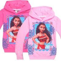 Wholesale Long Cotton Jacket For Summer - Moana Hoodies Long Sleeve Sweater for Girls kids Cloth Children Jacket Moana Trolls Star Wars LG83
