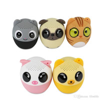tragbare mini-tier-lautsprecher großhandel-Mighty Animal Speakers Kabelloser Lautsprecher Bluetooth, Freisprecheinrichtung Mini Bluetooth Speaker Support USB-Gebühr, Tragbarer Lautsprecher ein Klick-Selfie