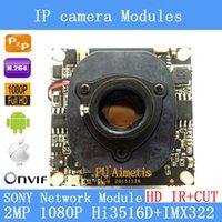 "Wholesale Dual Ccd Cctv Camera - IPC 1080P 1920 x 1080 1 2.8"" CMOS Hi3516D+SONY IMX322 CCTV IP camera module board + HD IR-CUT dual-filter switch"