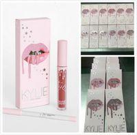 Wholesale Cosmetics Lips - New Kylie Birthday Edition Gloss Lipstick Kylie lip Kit & Lipliner lipgloss liquid lipstick matte 12 Colors Twenty free kylie cosmetics ship