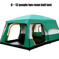 Wholesale Hall Tent - In the inventory of outdoor 6 to 12 people camping camping picnic two room hall tent mobile home