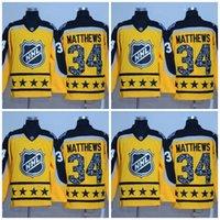 Wholesale Ice Stock - Toronto Maple Leafs Jerseys 2017 All Star Hockey Jerseys 34 Auston Matthews Yellow All stiched Free shipping In Stock