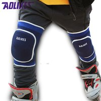 Vente en gros- AOLIKES 1 Paire 2-14 Kids Dancing Roller Skating Skateboard Cyclisme Sponge Knee Pads Anti-crash Enfants Kneepads Knees Protector