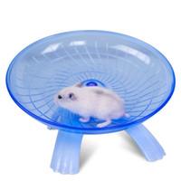 hayvanlar tekerlekleri toptan satış-Samll Hayvanlar Gine Domuz Kafesi Hamster Fare Çalışan Disk Uçan Daire Egzersiz Tekerlek Aksesuarları Mavi Mor 18 cm