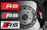 Wholesale Audi Cylinder - Durable RS Sline S line emblem logo Car PVC Race Trim Sticker Caliper Disc Brake wheel cylinder For Audi A4 A6 A5 A7 A3 Q3 Q5 Q7