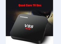 Android 6.0 V88 tv box Más barato RK3229 Quad-Core 1GB 8GB Smart Tv Box WiFi 3D HDMI TV Cheap Set-top Box Media Player
