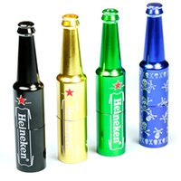Wholesale Beer Filters - Metal Filter Pipe 83mm Bottle Beer Shape Smoking Pipes with Filter Export Quality Product VS Sharpshone