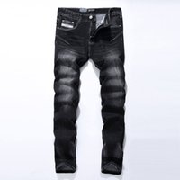 Wholesale China Jeans Pant - Wholesale-Black Jeans Men Asian Size:29-40 Casual Mens Jeans Trousers Regular Straight Denim China Brand Jeans Pants 961