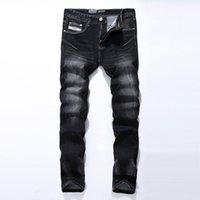 Wholesale China Jeans Sizes - Wholesale-Black Jeans Men Asian Size:29-40 Casual Mens Jeans Trousers Regular Straight Denim China Brand Jeans Pants 961