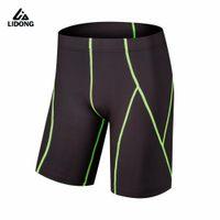 Wholesale tight lycra legging for sale - New Men Running Shorts Sports Gym Clothing Compression Tights Spandex Lycra short pant Tight Legging Basketball Leg elastic